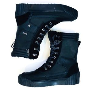 Pajar Roya Waterproof Lined Black Leather Boots
